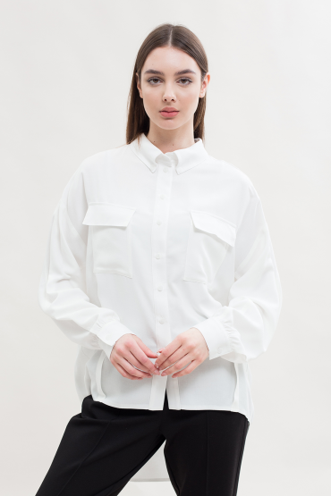 Блуза с ассиметричным низом
