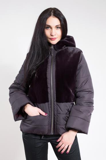 Стеганная куртка с мехом