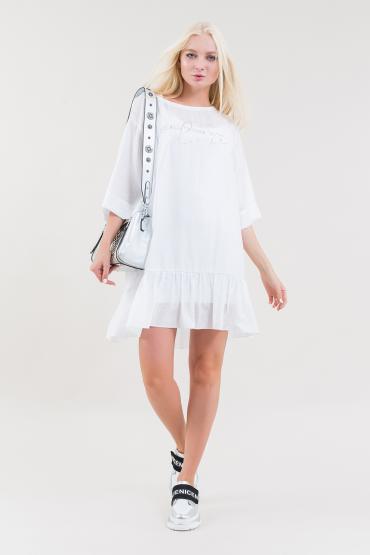 Платье мини свободного силуэта