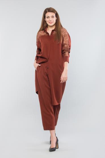 Рубашка-платье с кружевом