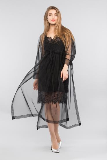 Комплект платье с накидкой