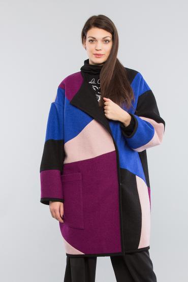 Пальто color block