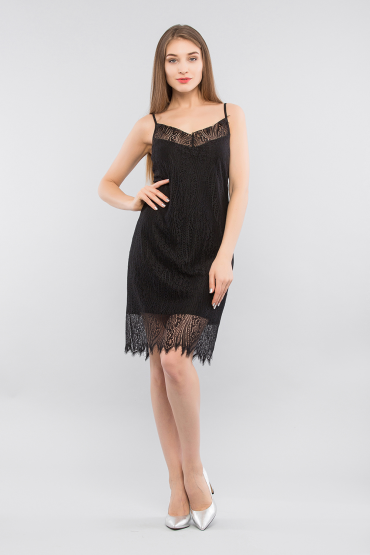 Кружевное платье комбинация