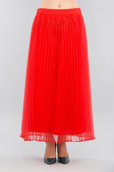 Плиссированная юбка в горошек