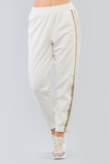 Трикотажный брюки с лампасом