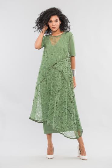 Двойное платье с кружевом