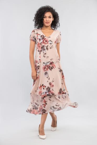 Шифоновое принтованое платье