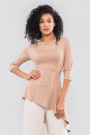Блуза с ассиметричным кроем