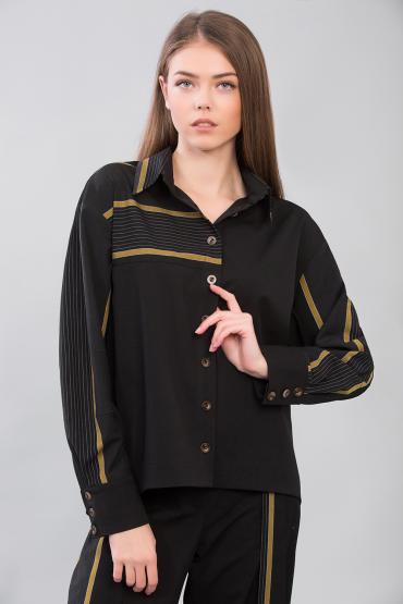 Блуза с контрастными полосами