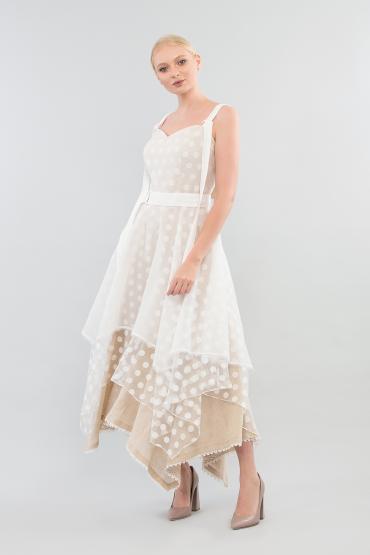 Платье с  ассиметричной юбкой