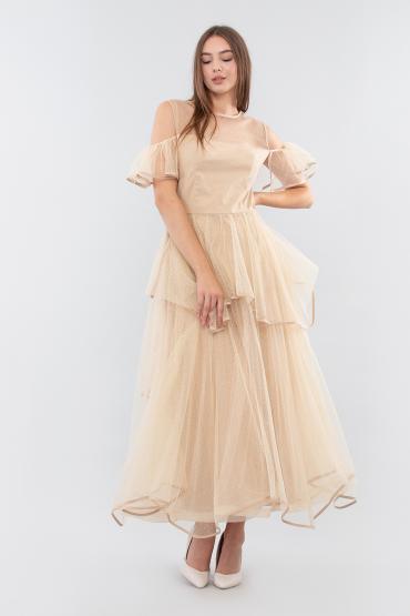 Платье в горох с юбкой пачкой