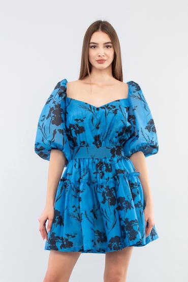 Платье с рукавами - буфами